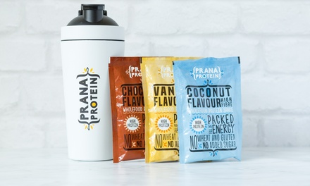 Prana Protein 7, 14 or 28 Shakes, Supplements and Shaker Set