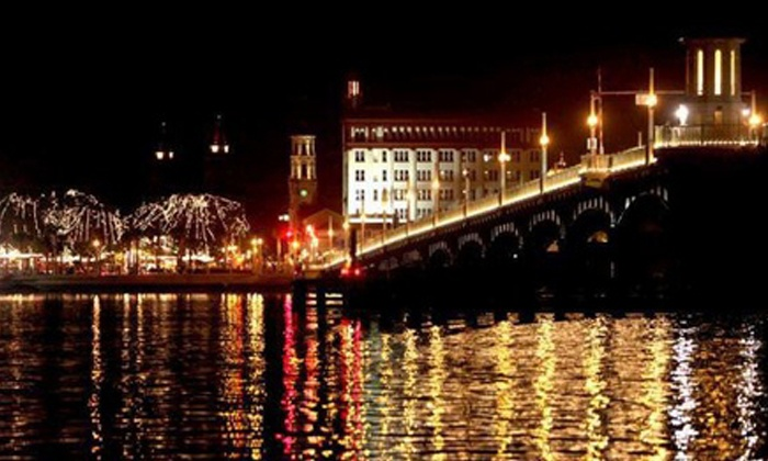 Dolphin Water Tours - St. Augustine: Nights of Lights Boat Tours for Two, Four, or Six from Dolphin Water Tours (Up to 53% Off)