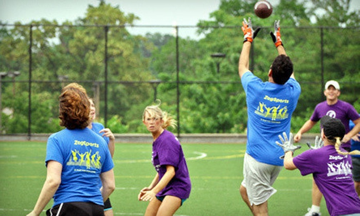 ZogSports - Multiple Locations: Touch Football League Registration for Fall 2012 or Winter 2013 for 1 or Up to 15 from ZogSports (Up to 51% Off)