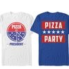 Lost Gods Men's Pizza for President T-Shirts