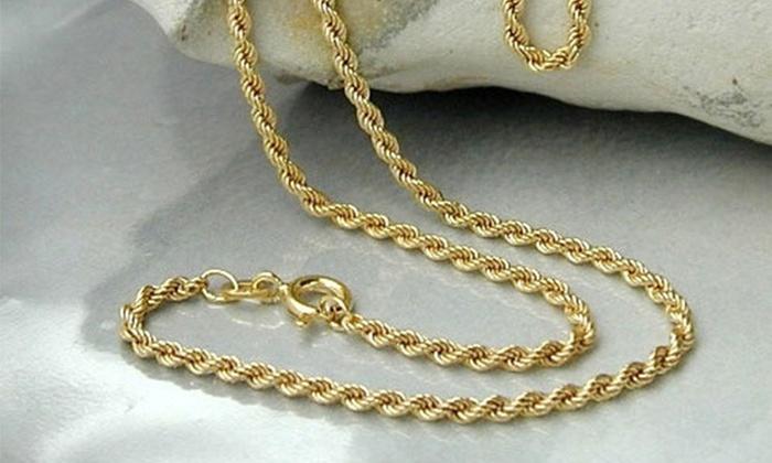 Rope Chain Gold 18k Provencalvoice Com