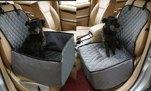 Pet Booster Car Seat Covers: Three in One ($35) or Heavy Duty Back Seat Cover ($39)