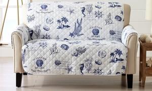 Coastal Reversible Stain Resistant Printed Furniture Protector