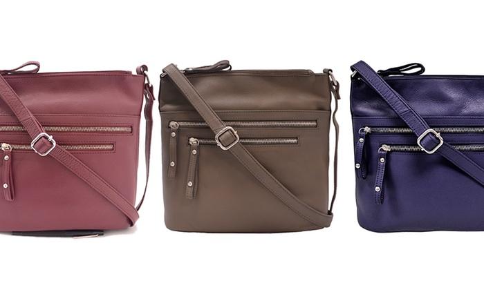 Great American Leather Works Zipper Cross Body Bags