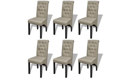 Lot de 2, 4 ou 6 chaises pour salle à manger capitonnées