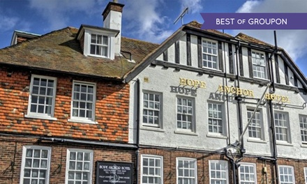 Rye: 1, 2 or 3 Nights For Two with Breakfast at The Hope Anchor Hotel