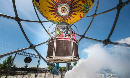 Zipline Ride, Steampunk Balloon Ride, or Combo Ticket & Fast Shot at Parakeet Pete's Attractions (Up to 52% Off)
