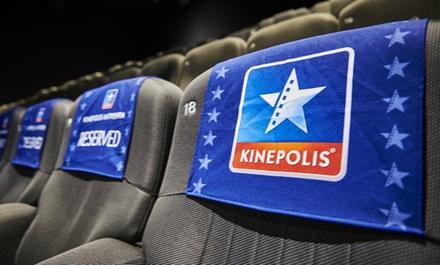 1 place pour un film au choix valable dans les 11 cinémas Kinepolis de la Belgique