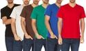 6-Pack Men's Super Soft V-Neck Tees
