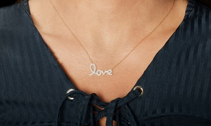"""Elements of Love """"Infinite Love"""" Pendant Made with Swarovski Elements"""