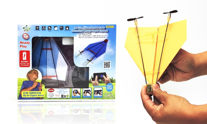 radio controlled paper airplane groupon goods