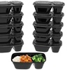 Two-Compartment Portion Control Container Set (20-Piece)
