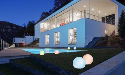 1, 2 ou 4 boules et demi-boules solaires colorées Ariane