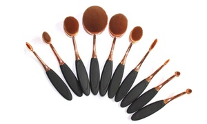 Black-and-Gold Oval Brush Set (10-Piece) at Black-and-Gold Oval Brush Set (10-Piece), plus 6.0% Cash Back from Ebates.