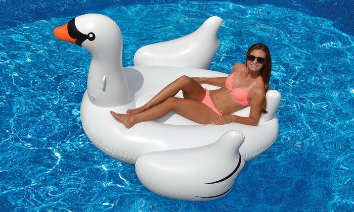 Ebtessam Mousa Trading FZE: Giant Inflatable Floating Pool Swan (from AED 129) or Cup Holders (from AED 39)