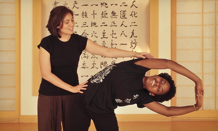 Dahn Yoga, Body & Brain Holistic Yoga, The Life Yoga - Multiple Locations: 10 or 15 Classes at Dahn Yoga, Body & Brain Holistic Yoga, The Life Yoga (81% Off)
