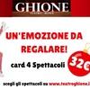 Regalo natale: Card Teatro Ghione