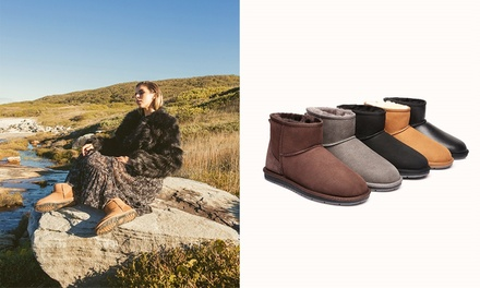 $59 for a Pair of Unisex Australian Sheepskin WaterResistant UGG Ankle Boots Don't Pay up to $249