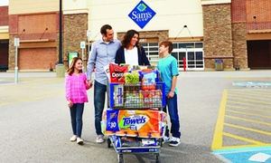 59% Off Sam's Club Membership + $10 eGift Card at Sam's Club, plus 6.0% Cash Back from Ebates.