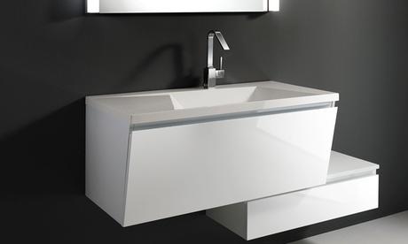 Mobile sospeso per il bagno con lavello, disponibile in 3 modelli con spedizione gratuita