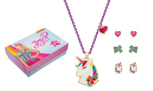 JoJo Siwa Unicorn Kid's Necklace and Earrings Set