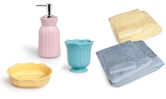 Set 3 accessori bagno excelsa groupon
