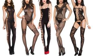6032dd0a7c12a4 Women's Music Legs Crotchless Bodystockings