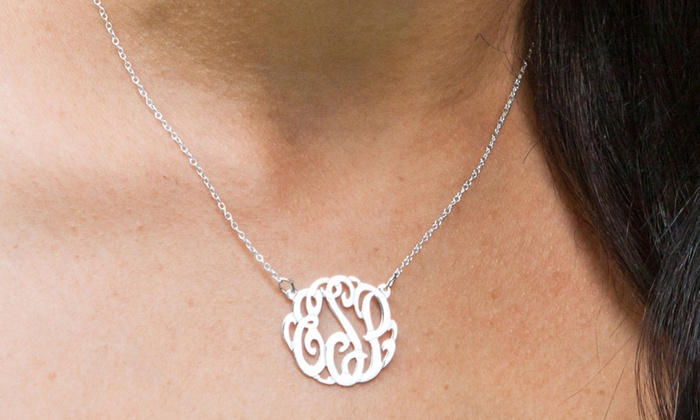 8f717699d6 Up To 76% Off on Monogrammed Pendant Necklace | Groupon Goods
