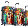 Parisian Nights Lightweight Hardside Spinner Luggage Set (3-Piece)