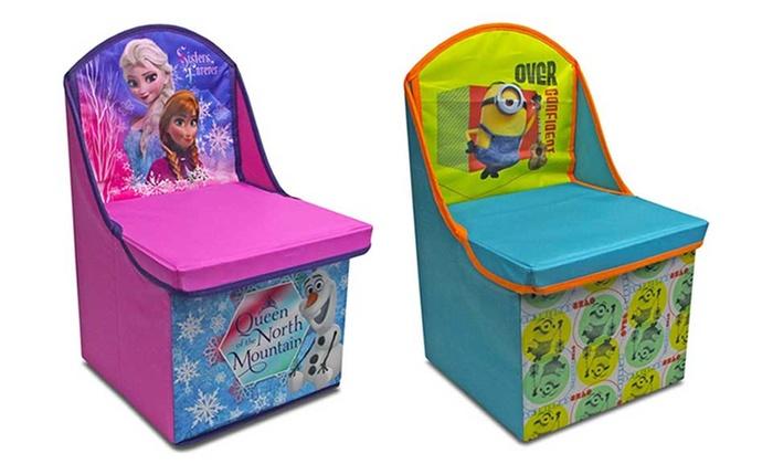Chaise pouf de rangement la reine des neiges ou minions for Table exterieur reine des neiges