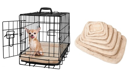 Dog Crate Padded Fleece Pet Bed