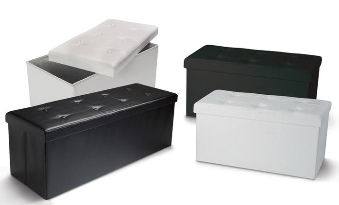 Panca portaoggetti pieghevole con 6 o 8 bottoni disponibile in bianco o nero da 29,89 €
