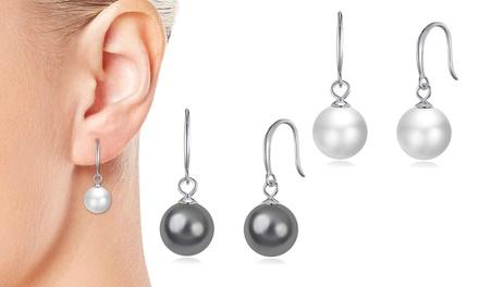 Orecchini Philip Jones con perle in Argento sterling