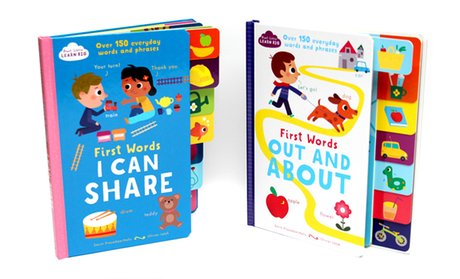 First Words I Can Share and Out and About Children's Books