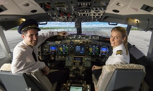 Brussels Flight Simulators: 40, 60 ou 80 min de simulateur de vol à partager seul, en couple ou entre amis dès 89 € chez Brussels Flight Simulators