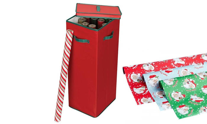 30 wrapping paper storage box groupon goods. Black Bedroom Furniture Sets. Home Design Ideas