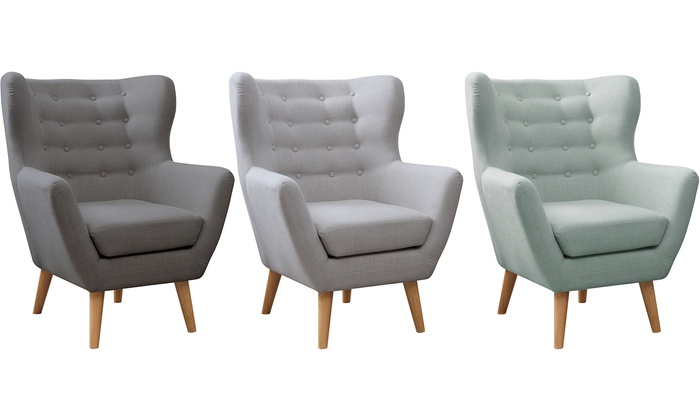 Groovy Modern Wing Chair Groupon Gmtry Best Dining Table And Chair Ideas Images Gmtryco