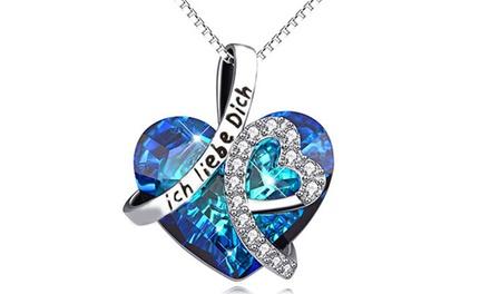 Halskette mit Herzanhänger mit Kristallen von Swarovski® (Munchen)