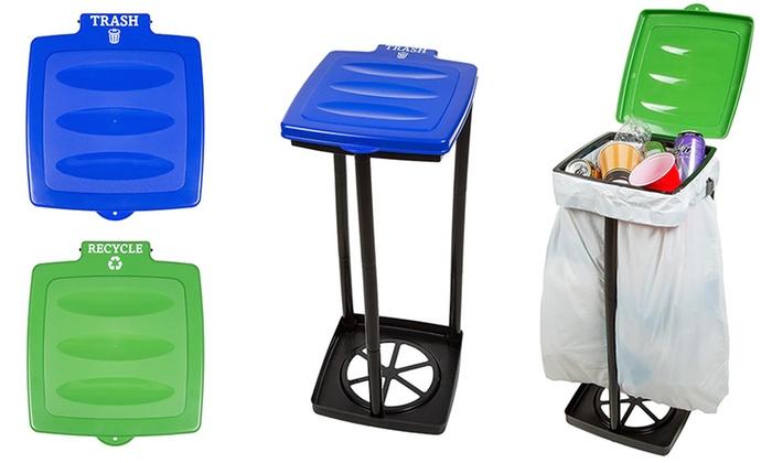 up to 50 off on portable trash bag holder groupon goods. Black Bedroom Furniture Sets. Home Design Ideas