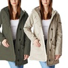 Women's Cotton Jacket with Faux-Fur-Lined Hood
