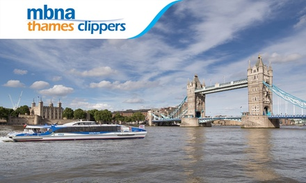 One-Day River Roamer: Child, Adult or Family Ticket with MBNA Thames Clippers (Up to 30% Off)