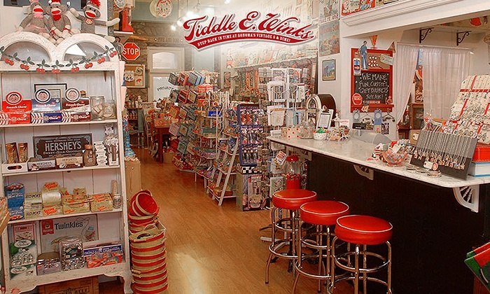 Tiddle E. Winks Vintage 5 & Dime - Multiple Locations: $8 for $16 Worth of Vintage Toys, Candy, and Collectibles at Tiddle E. Winks Vintage 5 & Dime