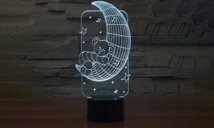 3d led lampe mit usb anschluss groupon goods. Black Bedroom Furniture Sets. Home Design Ideas