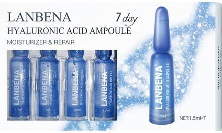 7, 14 ou 21 jours de sérum ampoules acide hyaluroniques anti-âge et raffermissant