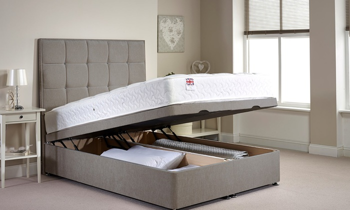 Ottoman divan bed groupon goods for Single divan bed without mattress