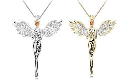 1 ou 2 colliers Ange gardien de Marcus Emporium ornés de cristaux Swarovski®