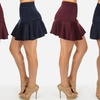Juniors' Fit and Flare Mini Skirt