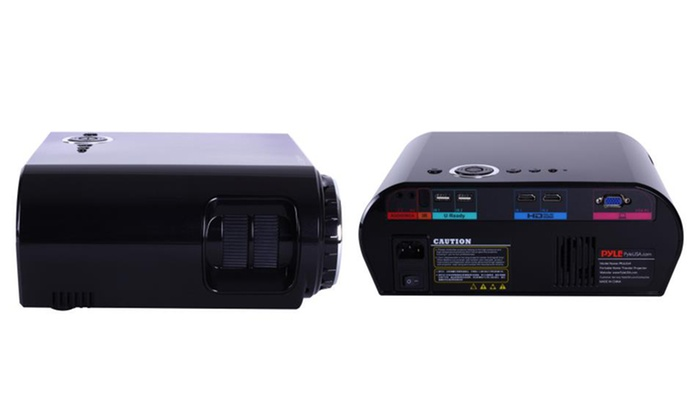 69 off on pyle 1080p lcd projector groupon goods for Compact hd projector