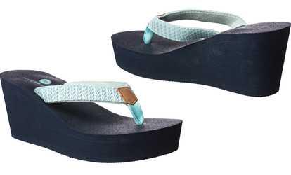 7cd5352ce Shop Groupon Riverberry Women s Aloha Platform Flip-Flops with Yoga Mat  Padding