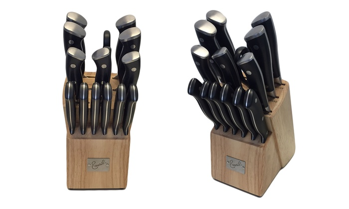 Emeril Cutlery 16-Piece Knife Set with Sharpener